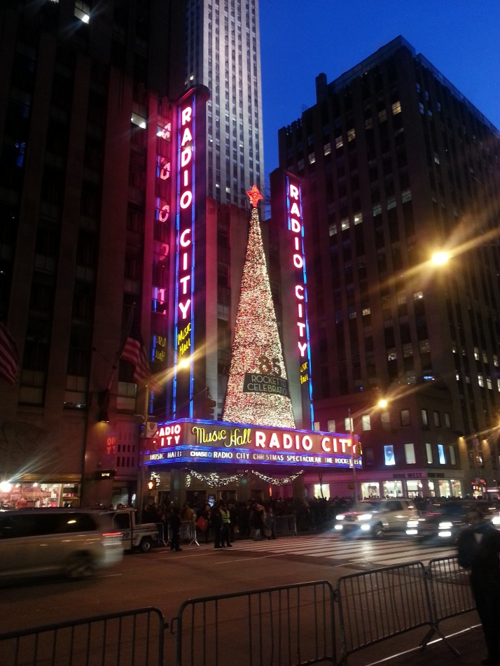 Radio city in NYC, so crowded and takes ever to just cross one block on 5th Avenue!